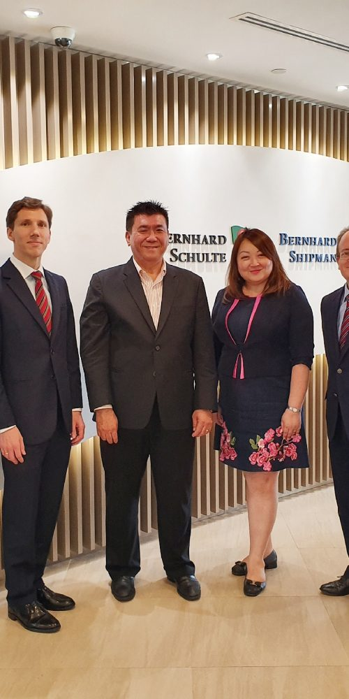 Pictured from left to right: Russell Gomes, Rashimi Dipeeka, Haymon Sinapius, Wong Hong Lee, Marianne Choo, and Tobias Pinker, at the signing ceremony on 3 October 2019